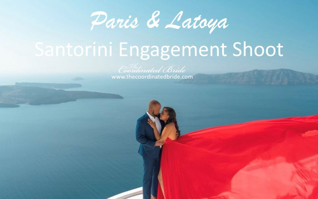 Santorini Engagement Session: Paris & Latoya