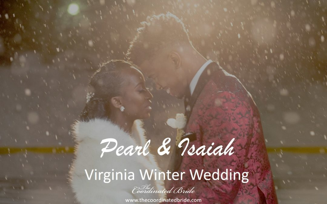 Winter-Esque Virginia Wedding, Pearl & Isaiah