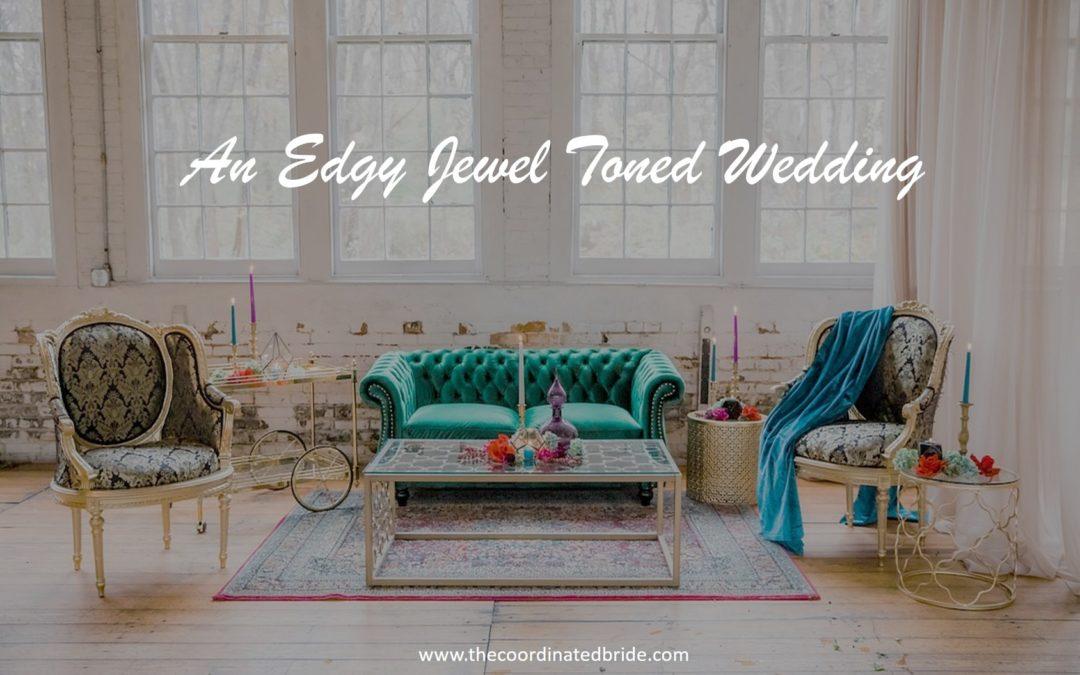 An Edgy Winter Jewel Toned Wedding Shoot