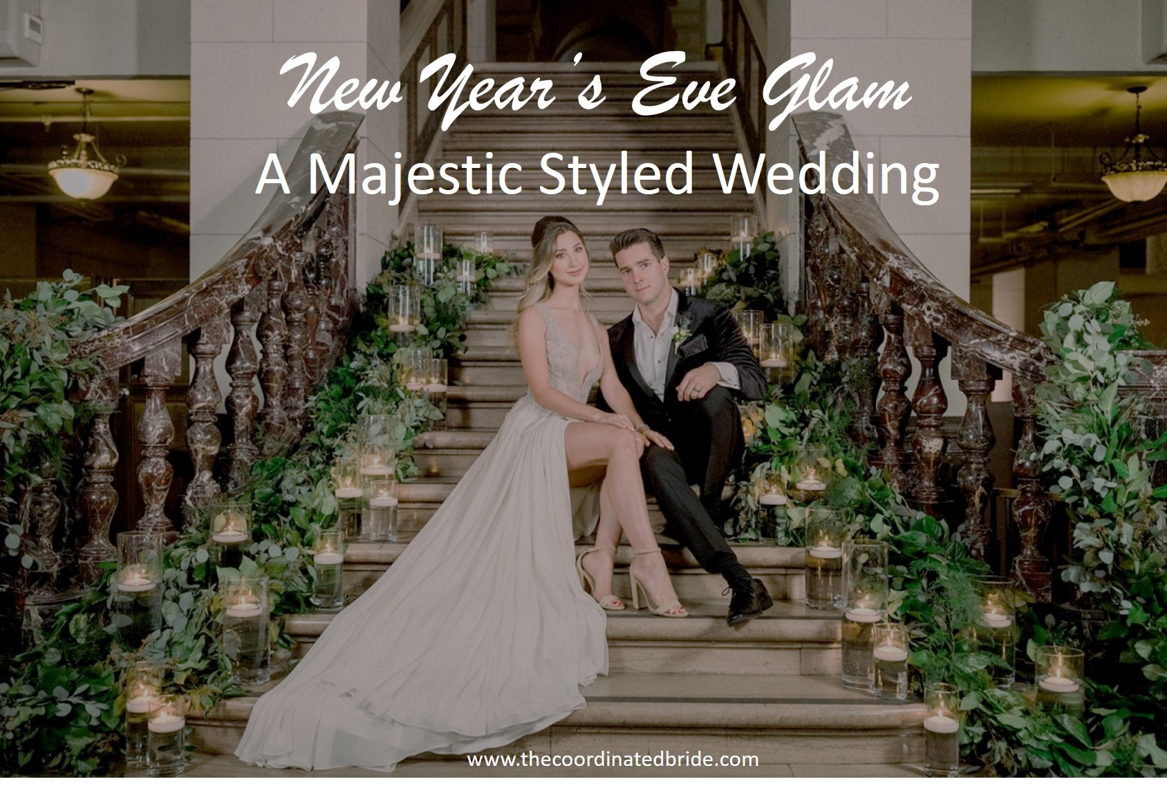 A Majestic New Year's Eve Styled Wedding