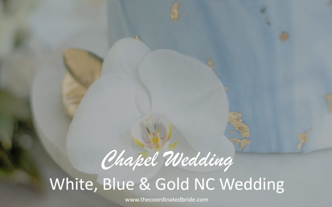 White, Blue & Gold Sweet Southern Chapel Wedding