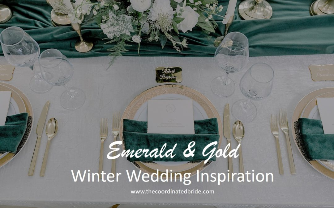 Emerald and Gold Winter Wedding Inspiration
