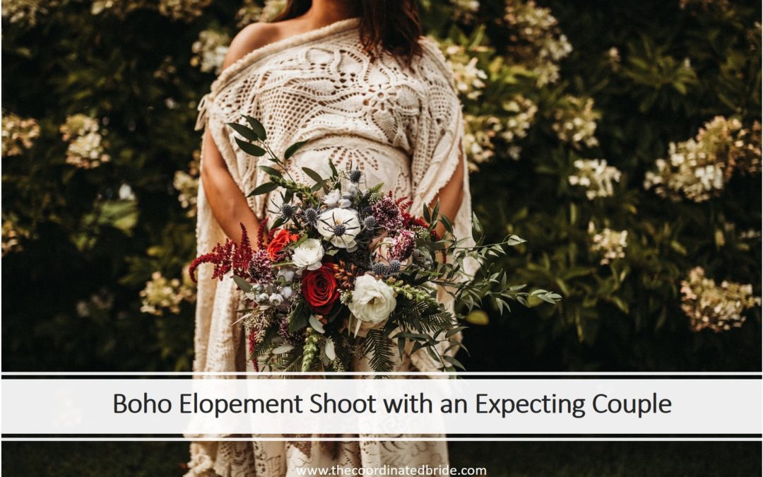 Styled Boho Elopement With an Engaged & Expecting Couple