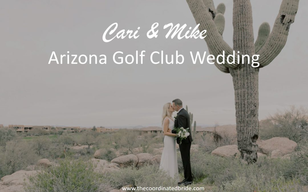 An Elegant Golf Club Wedding in Arizona