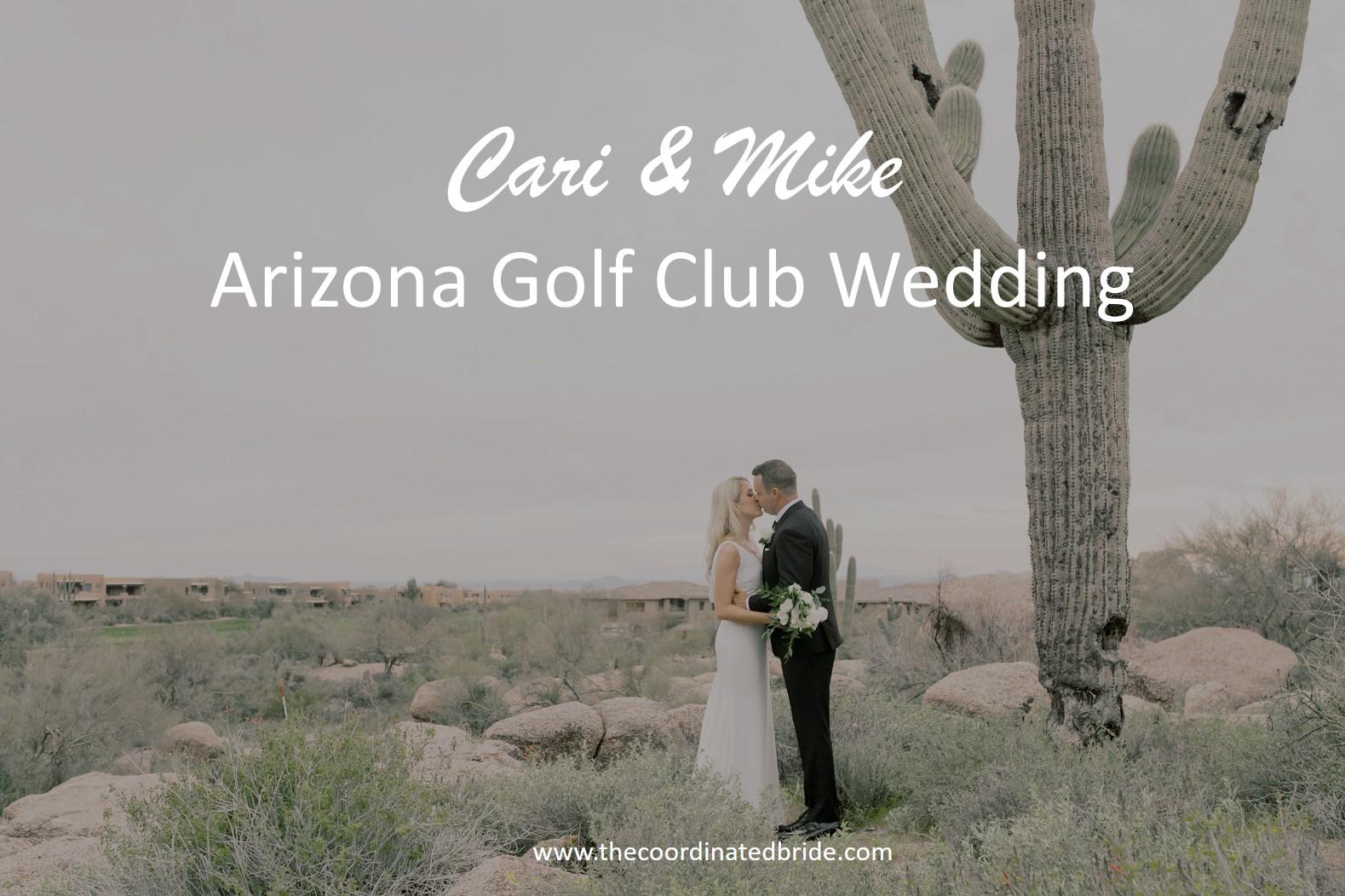 An Elegant Golf Club Wedding in Arizona
