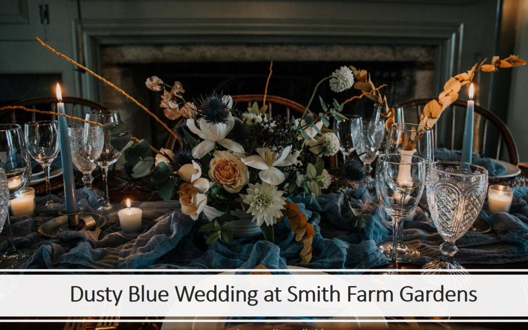 Dusty Blue Private Estate Wedding Shoot