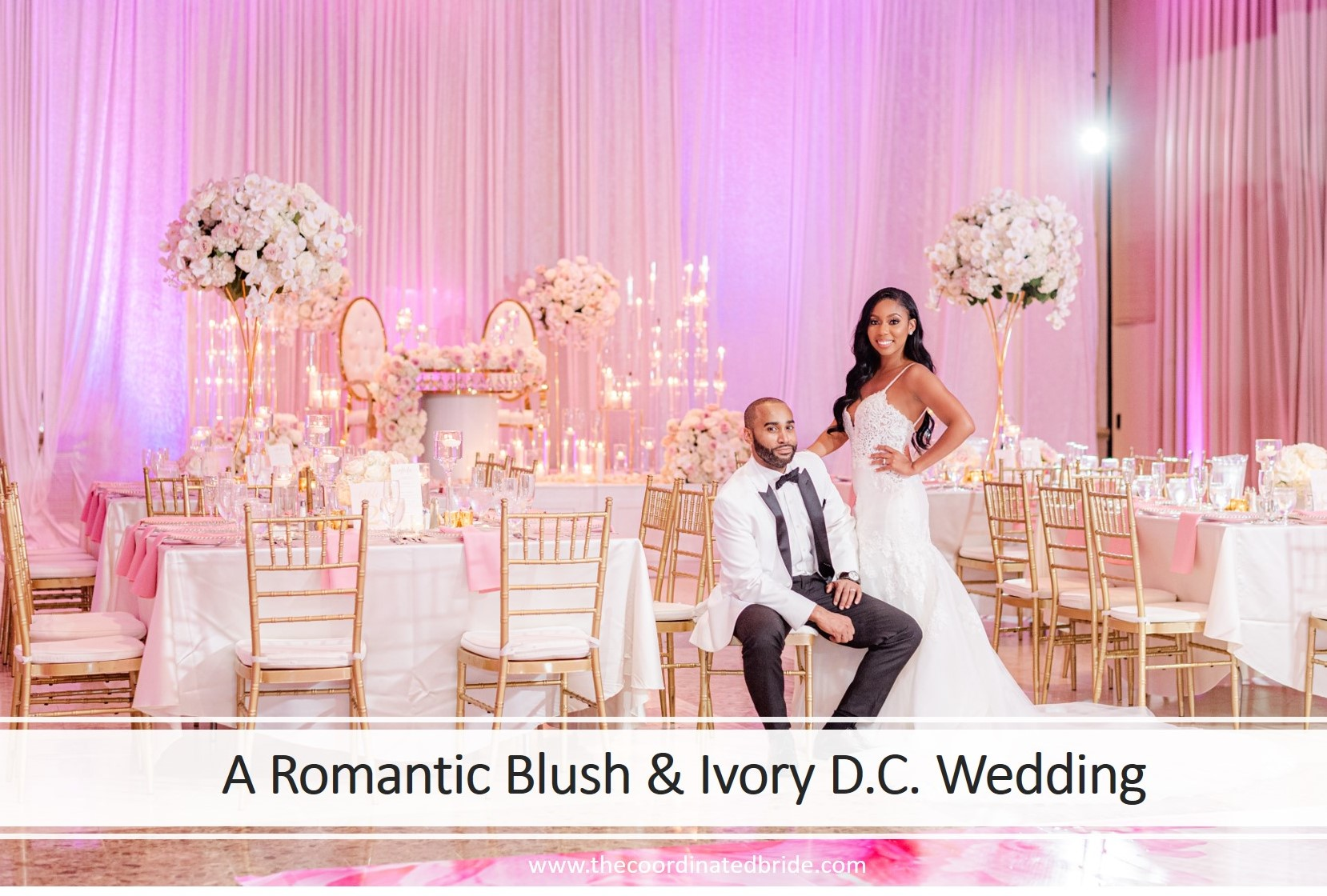 A Romantic Blush & Ivory September Wedding, Jene & Vance