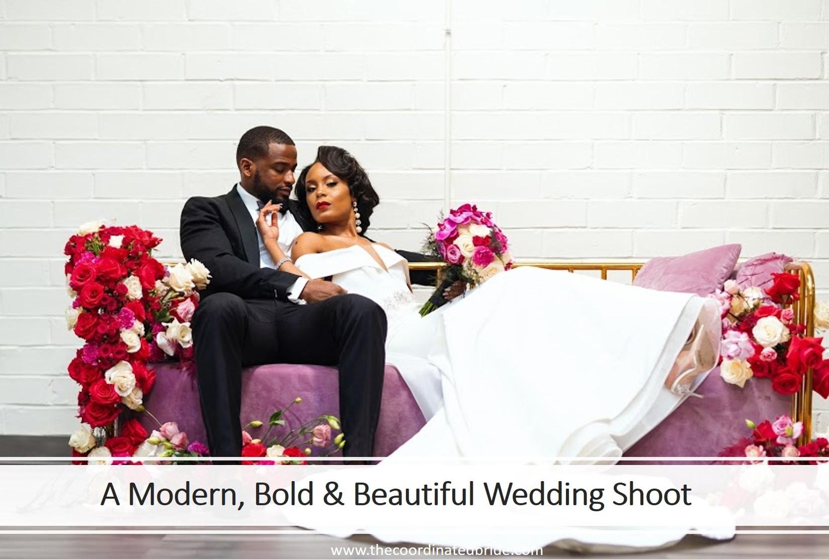 A Modern, Bold & Beautiful Wedding Shoot