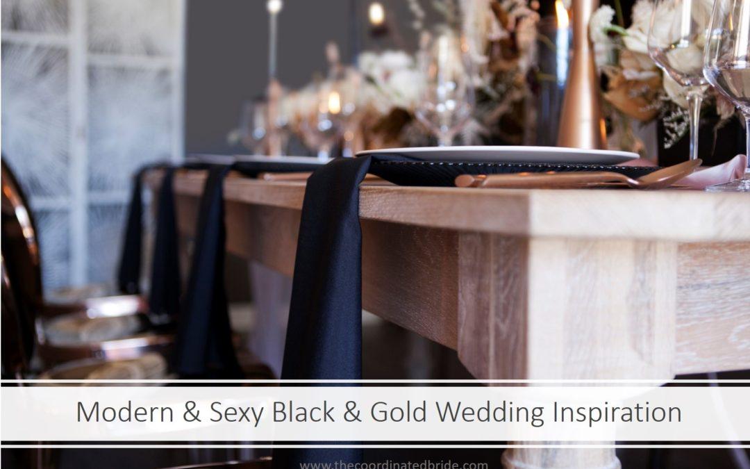 Modern & Sexy Black & Gold Wedding Inspiration