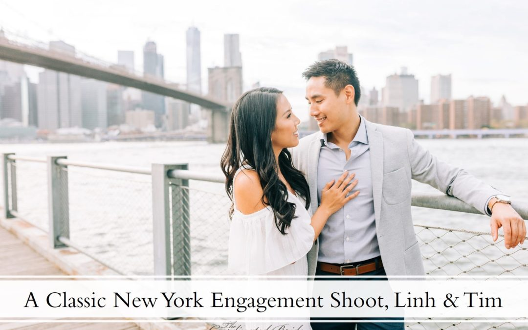 A Dumbo, Brooklyn & New York Public Library Engagement Session, Linh & Tim