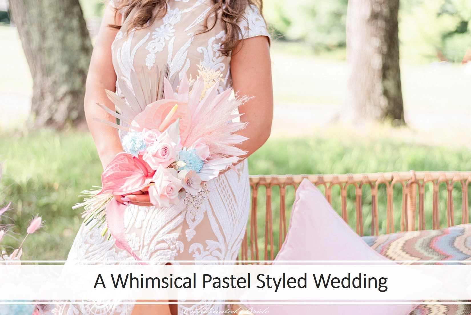A Whimsical Pastel Styled New England Wedding