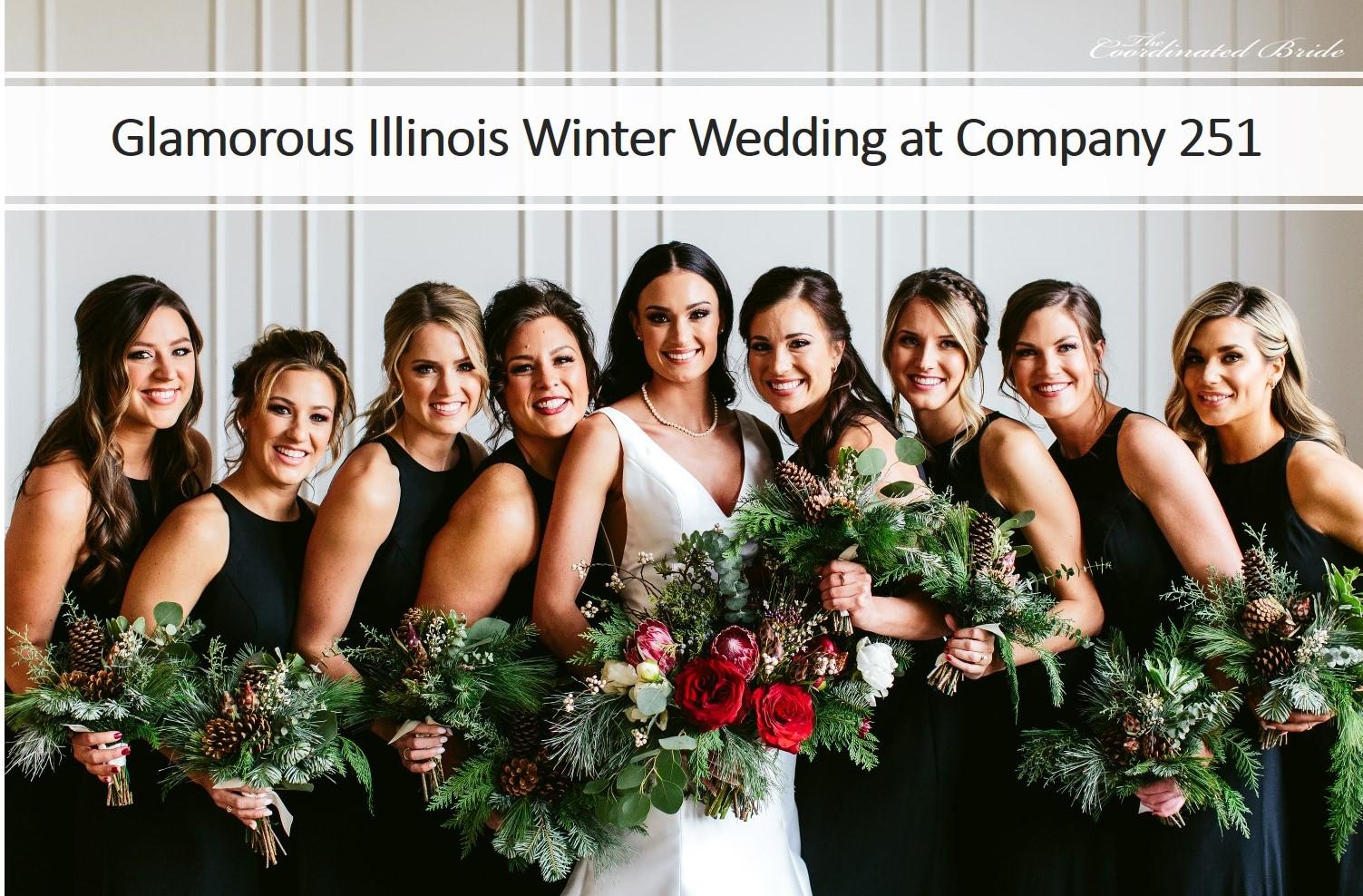 A Glamorous Illinois Winter Wedding at Company 251