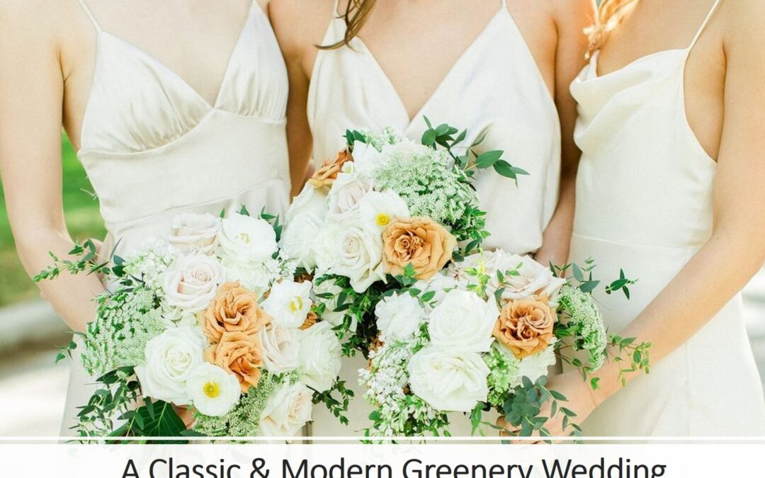 A Classic & Modern Greenery Florida Wedding