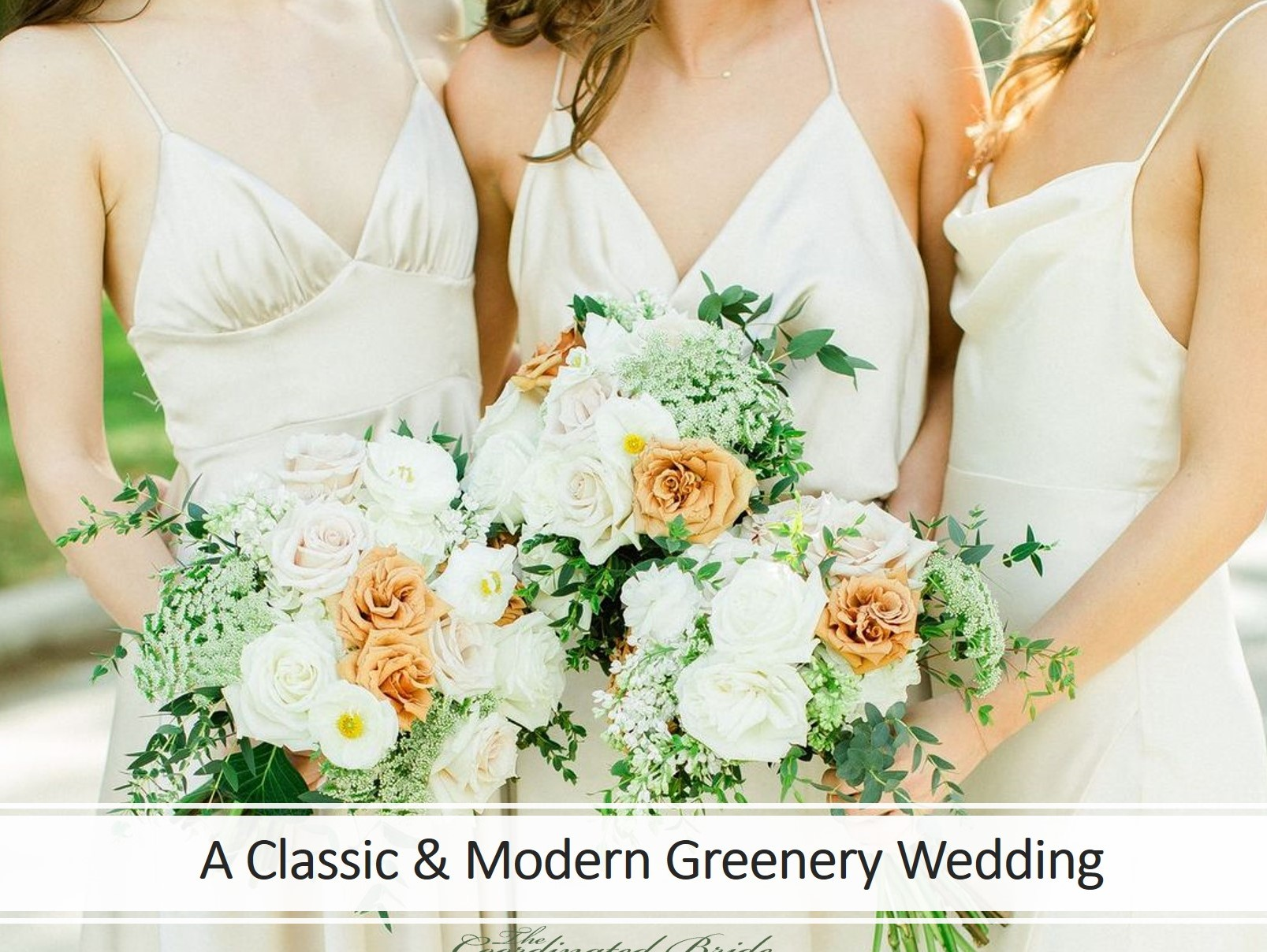 A Classic & Modern Greenery Florida Wedding