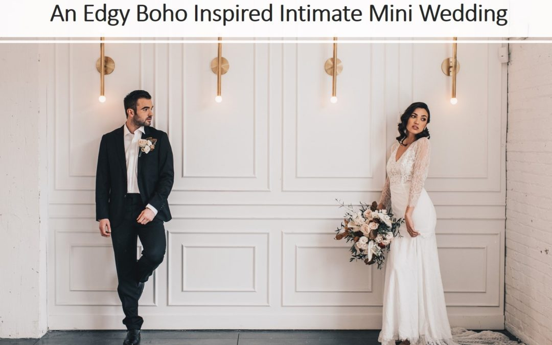 An Edgy Boho Inspired Intimate Mini Wedding Shoot