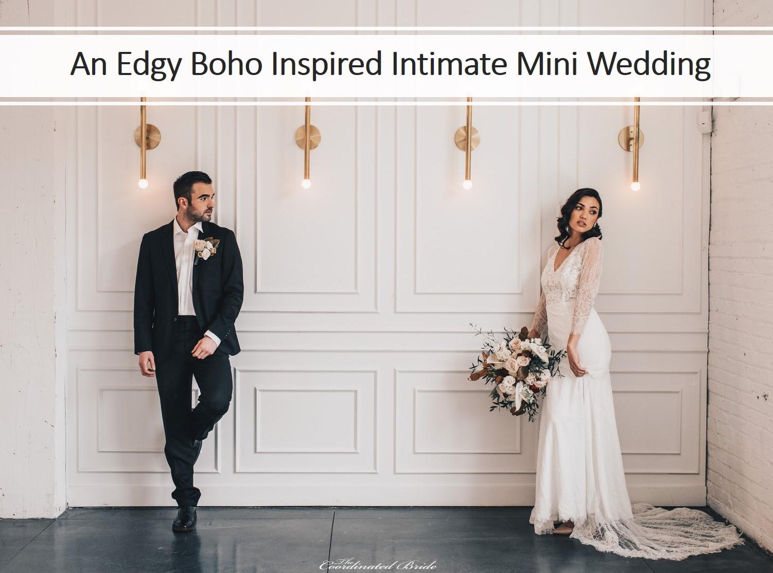 An Edgy Boho Inspired Intimate Mini Wedding Shoot