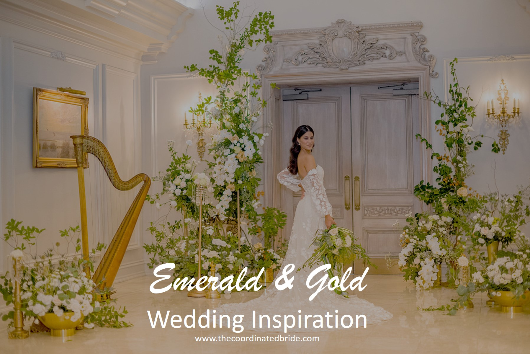 Emerald and Gold Wedding Inspiration at the Park Chateau