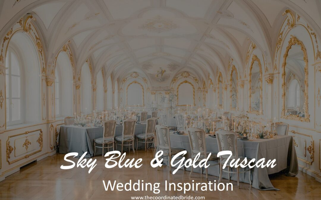 Sky Blue, Gold & Ivory Tuscan Wedding Inspiration