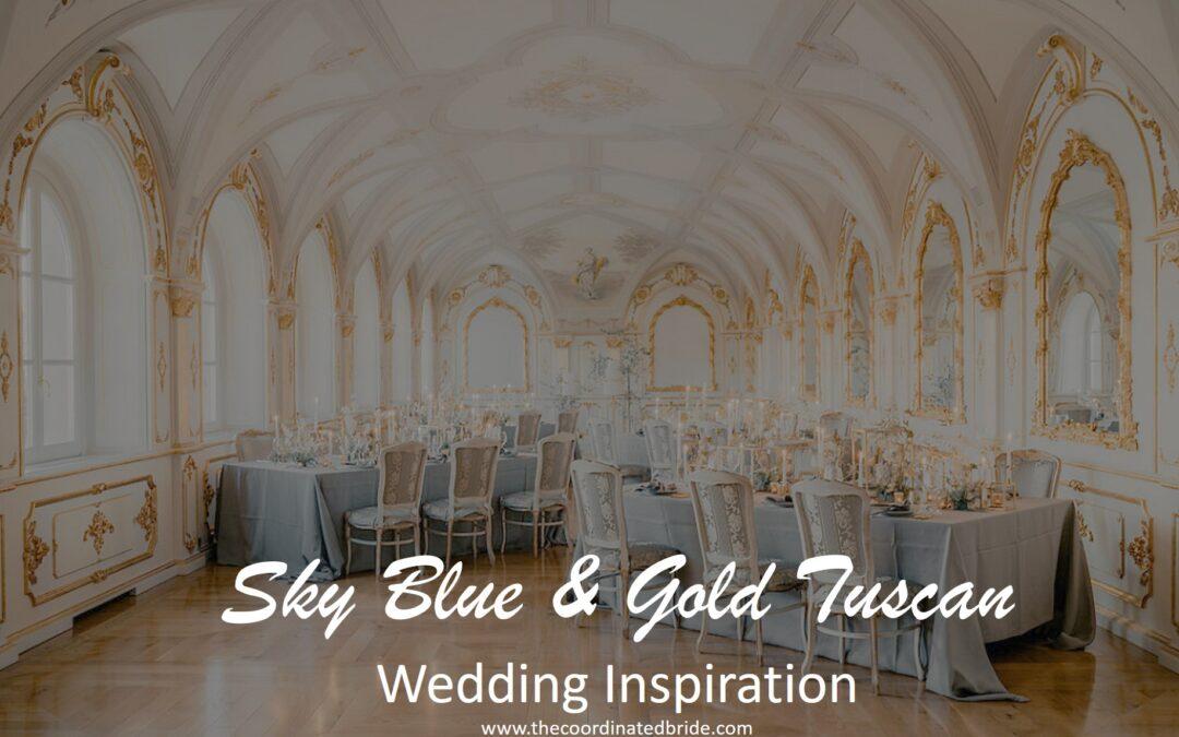 Sky Blue, Gold & Ivory Tuscan Wedding Inspiration