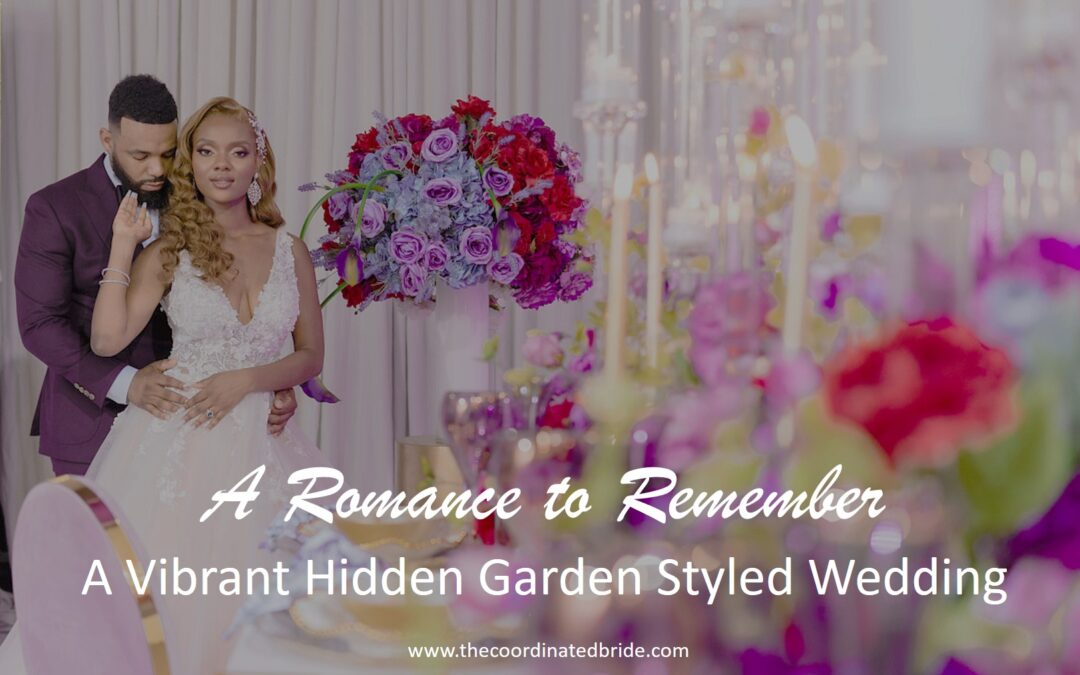 A Romantic & Vibrant Hidden Garden Styled Wedding Shoot