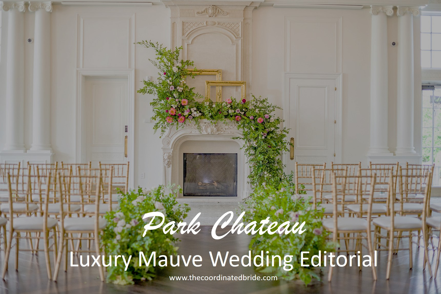 Luxury Mauve Inspired Wedding Editorial at New Jersey's Park Chateau