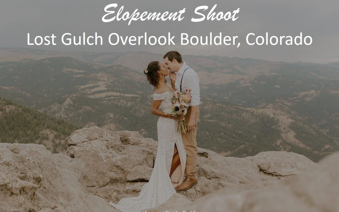 A Colorado Mountain Indie Themed Elopement Shoot at Lost Gulch Overlook