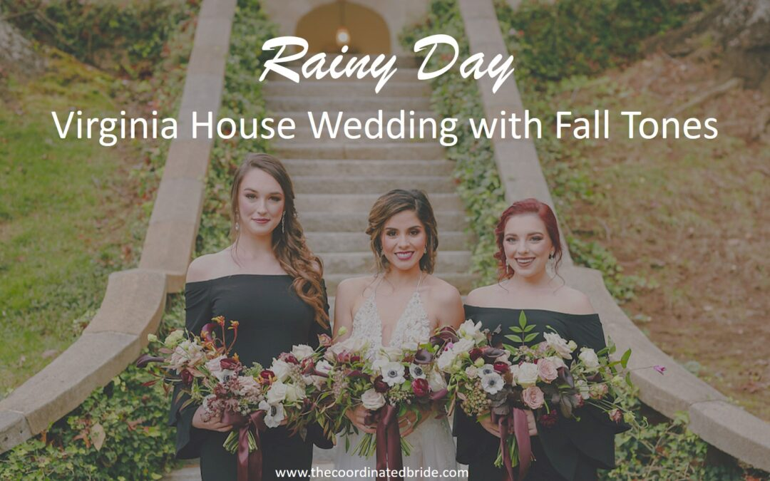 Luxe Virginia House Wedding with Autumn Tones