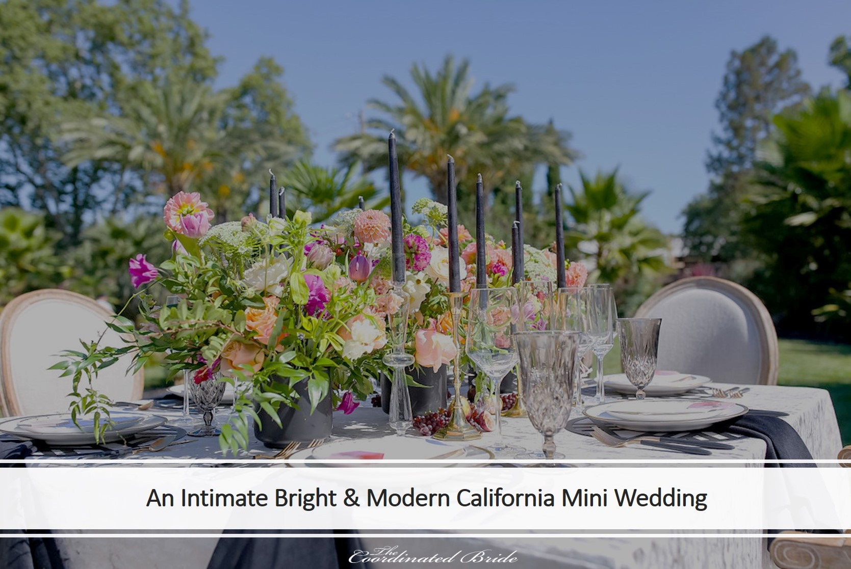 A Bright & Modern California Mini Wedding