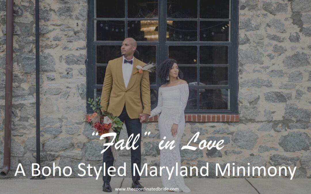 """Fall in Love"" A Boho Minimony in Historic Ellicott City"