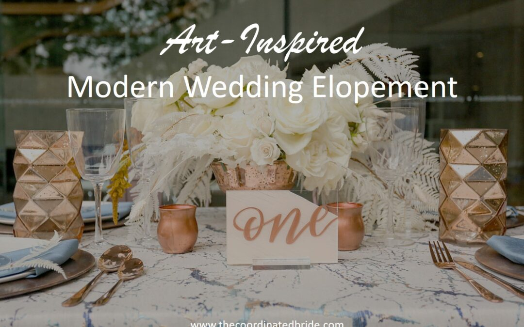 Art-Inspired Modern Wedding Elopement at the American Institute of Architects