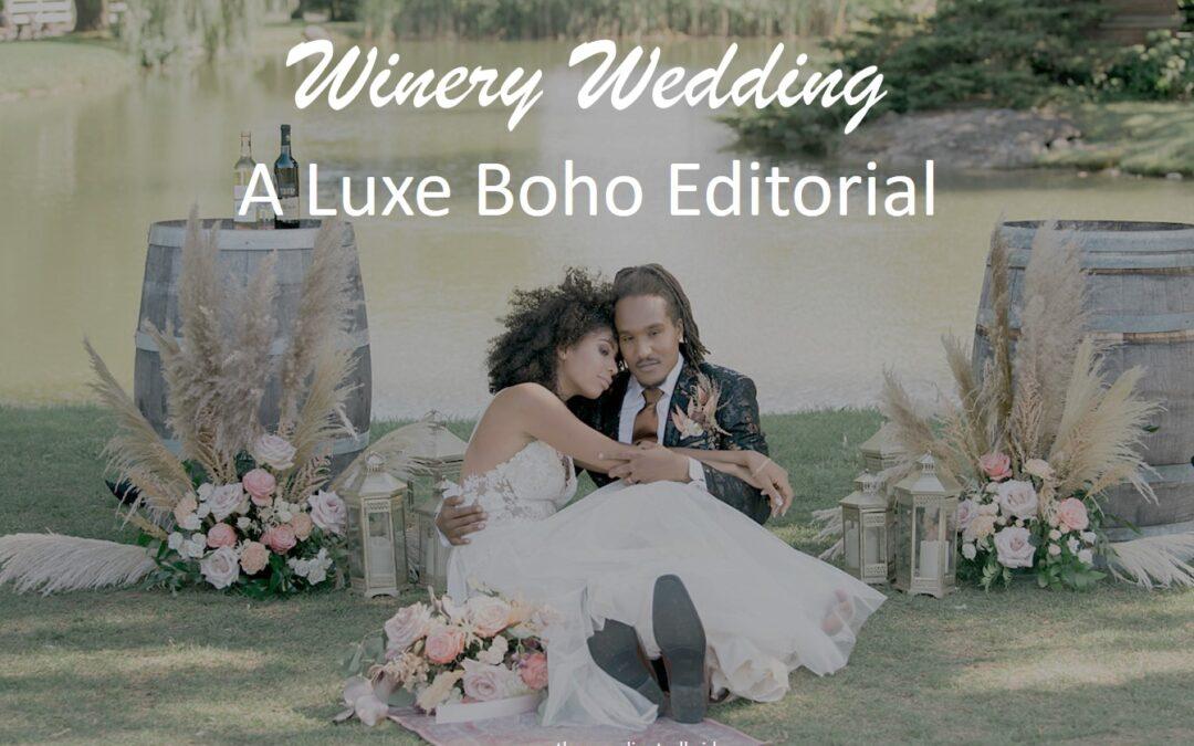 A Romantic Boho Styled Winery Wedding