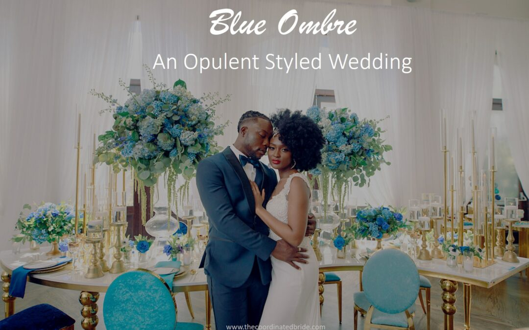 An Opulent Ombre Wedding Shoot in Shades of Blue