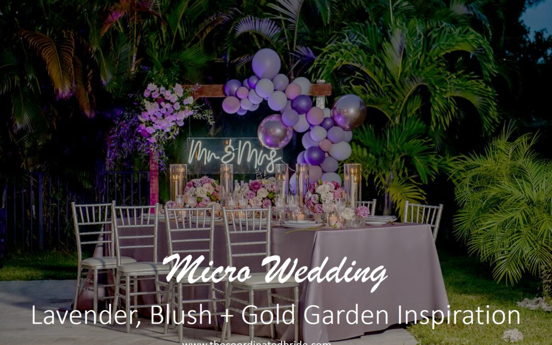 Lavender, Blush + Gold Garden Micro-Wedding