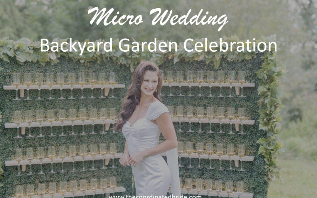 Backyard Garden Micro Wedding