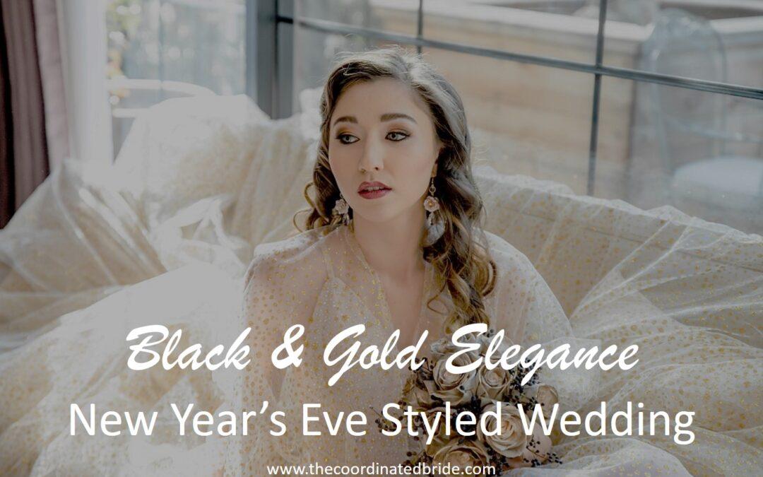 Black & Gold Festive Styled Wedding