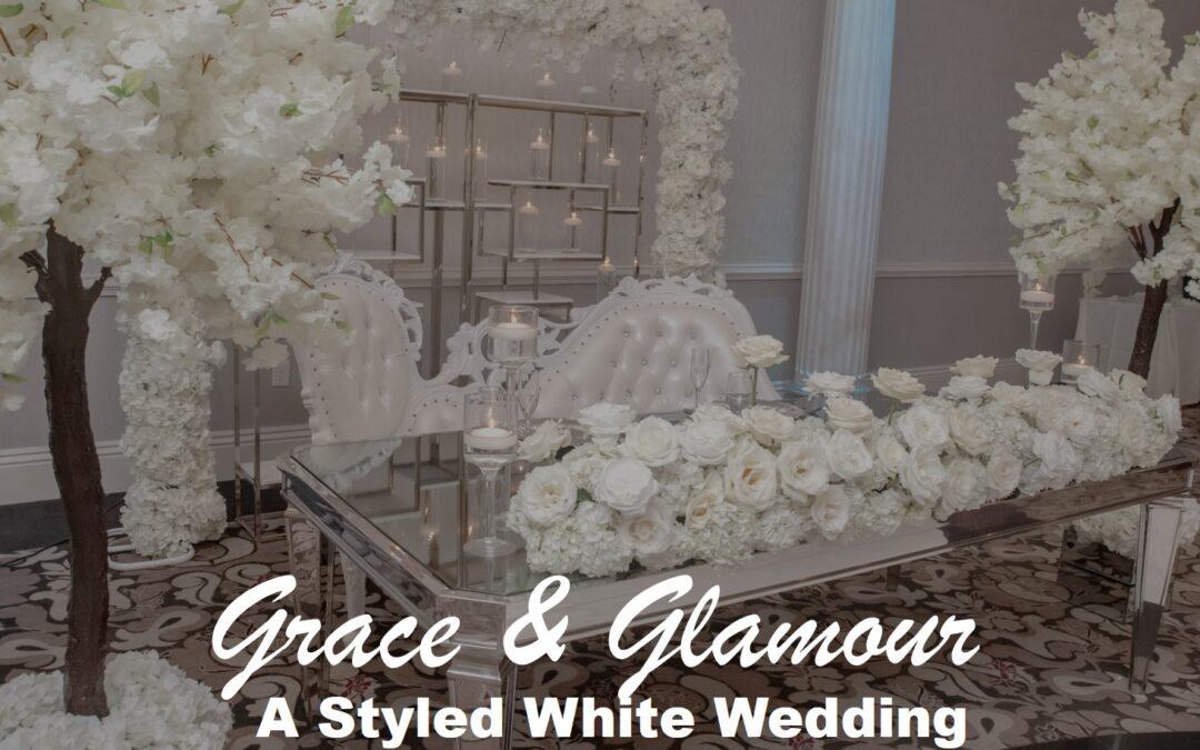 Grace & Glamour Styled White Wedding