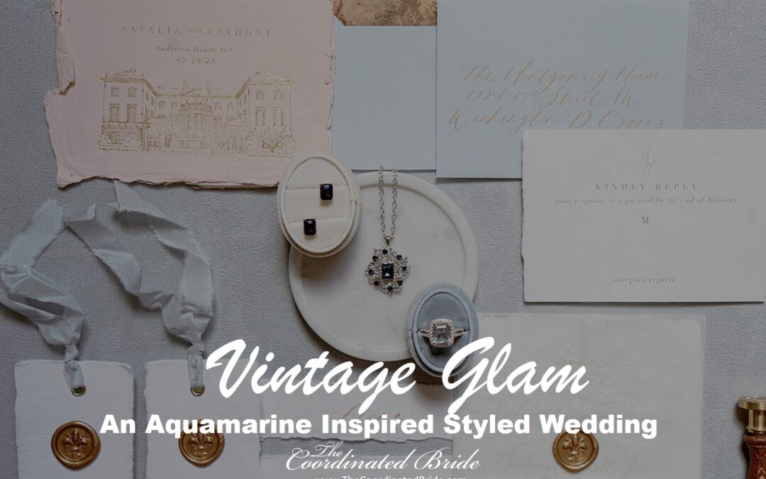 Vintage Aquamarine Inspired Styled Wedding