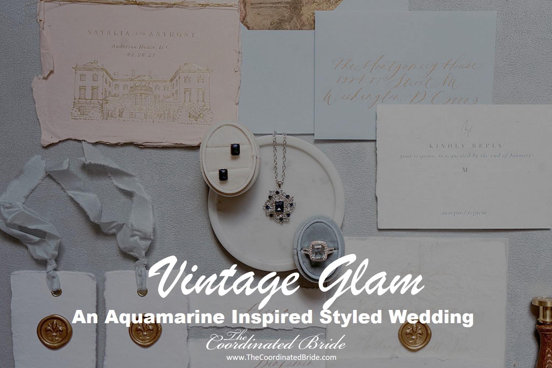Vintage Aquamarine Inspired Styled Wedding