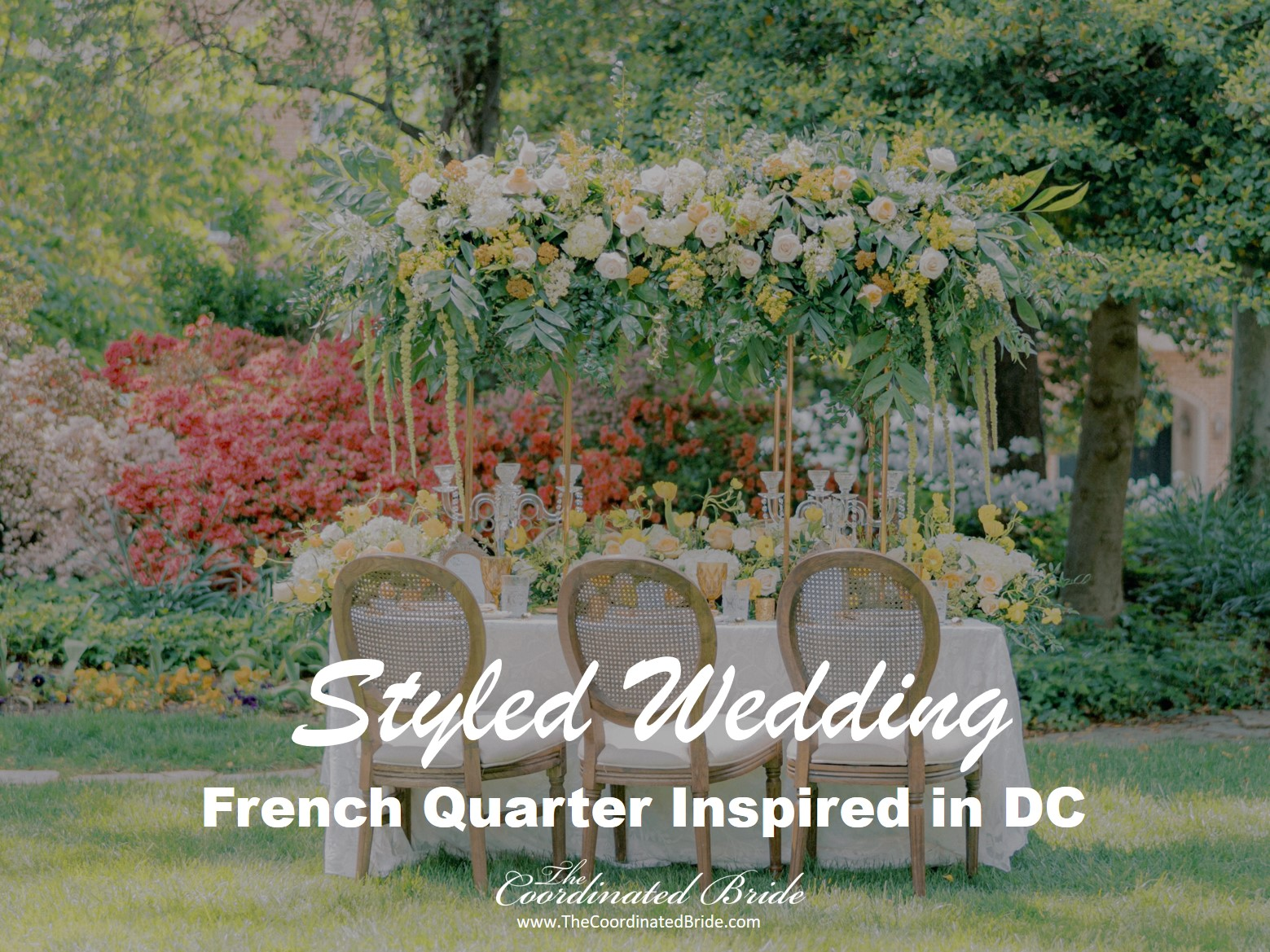 French Quarter Inspired Styled Wedding in D.C. Using Pantone's 2021 Colors