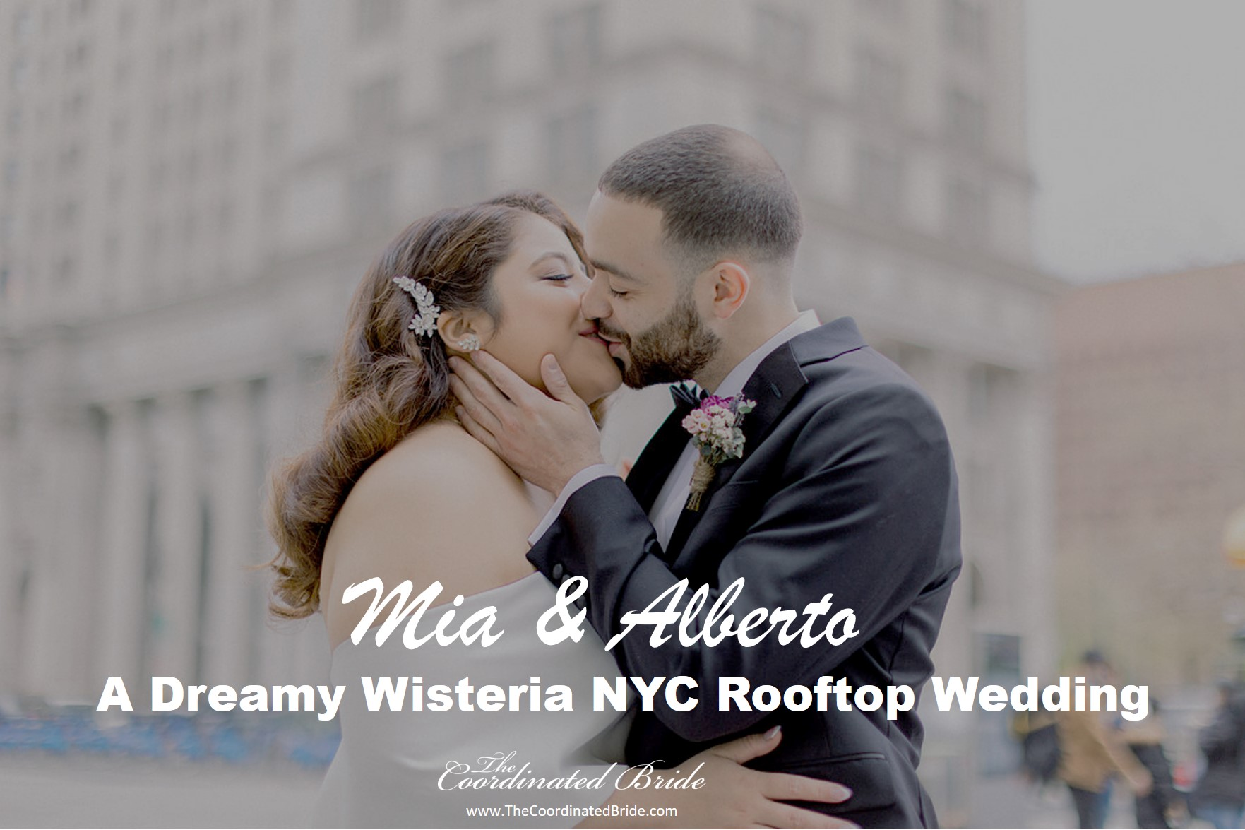 Dreamy Wisteria New York City Rooftop Wedding