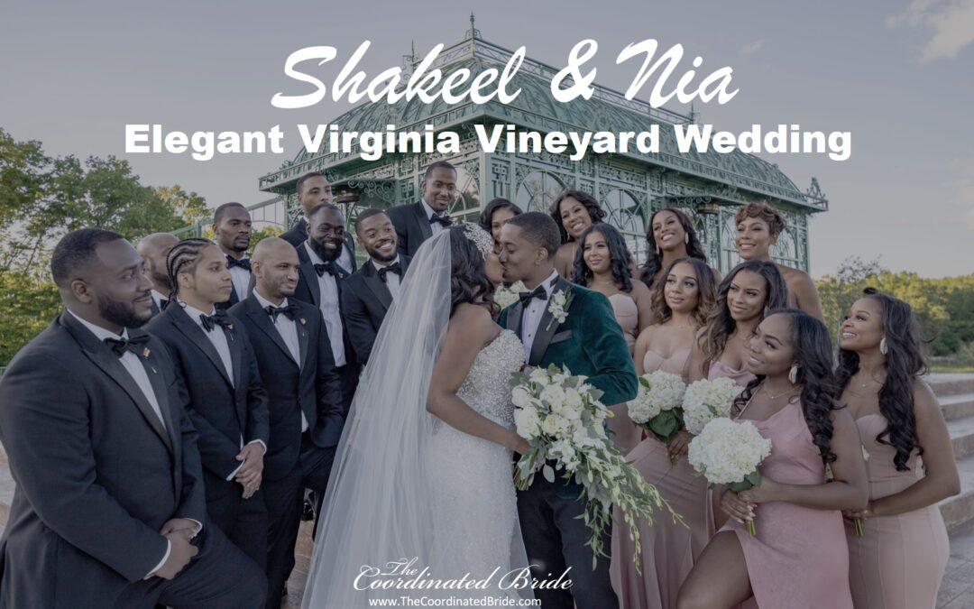 Shakeel & Nia's Elegant Virginia Vineyard Wedding