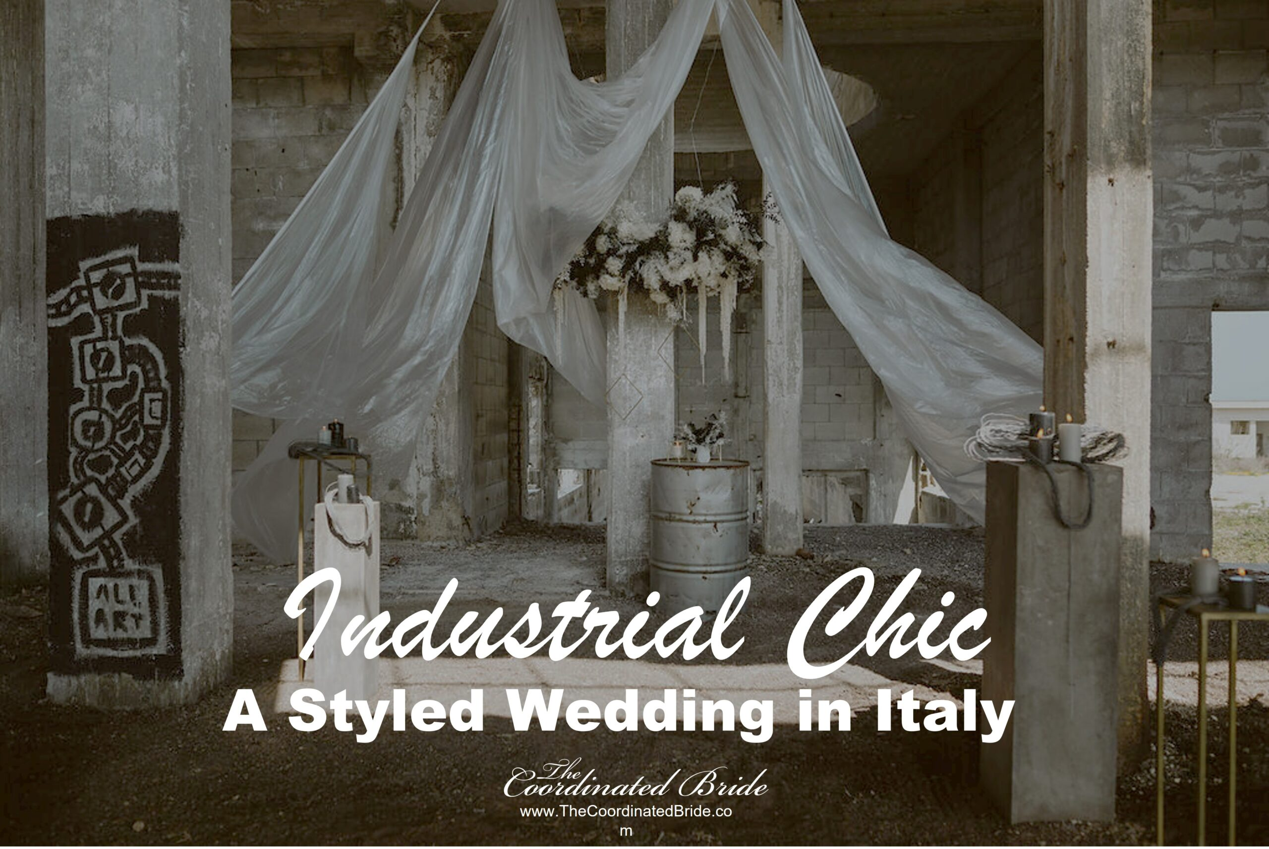 Industrial Chic Styled Wedding in Italy Using Recycled Materials