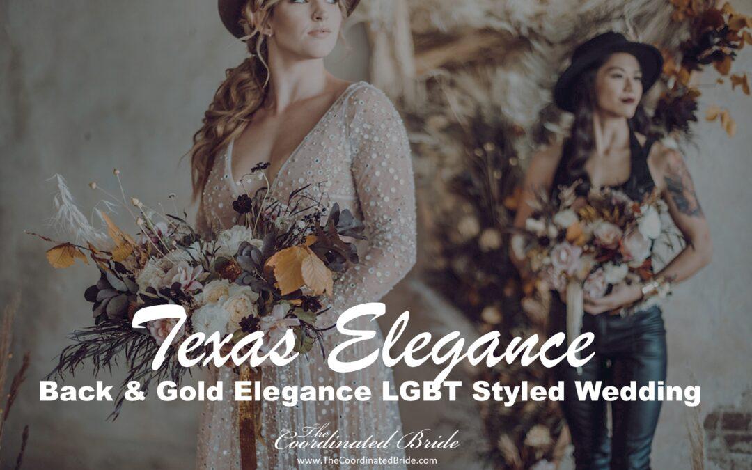 Black & Gold Western Elegance Same Sex Styled Wedding