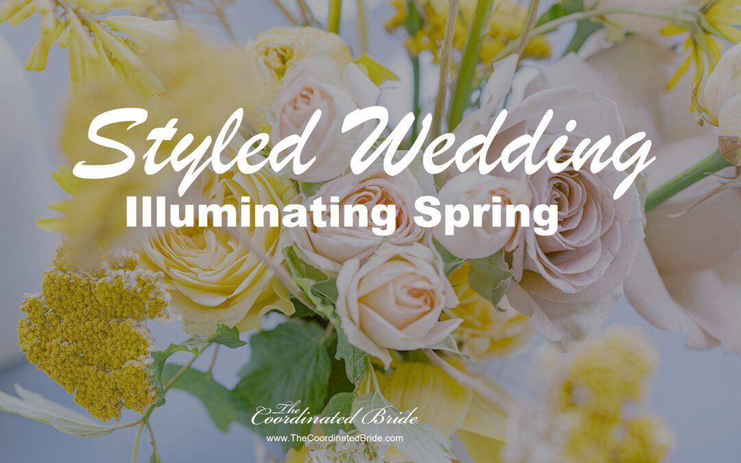 Illuminating Yellow & Ultimate Gray Spring Styled Micro Wedding