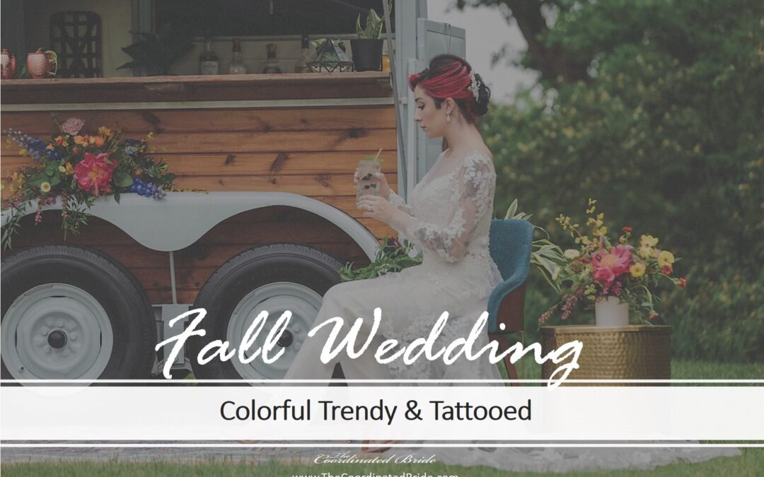 Colorful & Trendy Autumn Wedding with a Tattooed Wedding Party