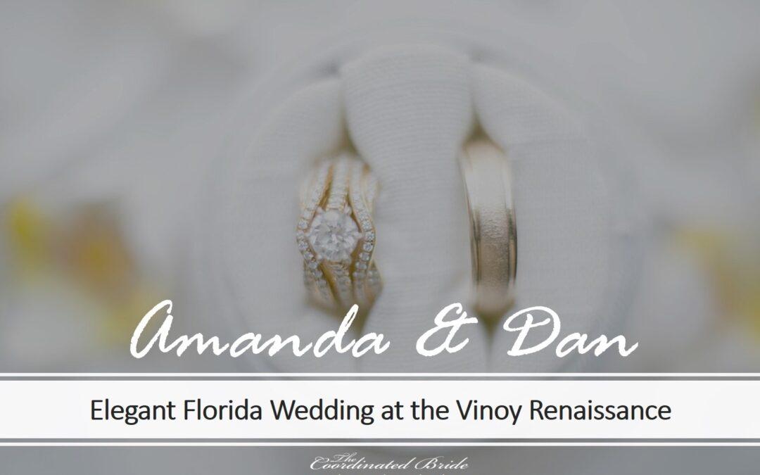 Simply Elegant Wedding in a Historic Florida Resort, Amanda & Dan