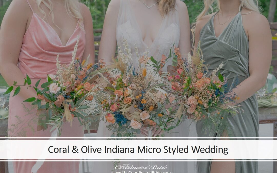 A Coral & Olive Intimate Styled Wedding at Willow Acres