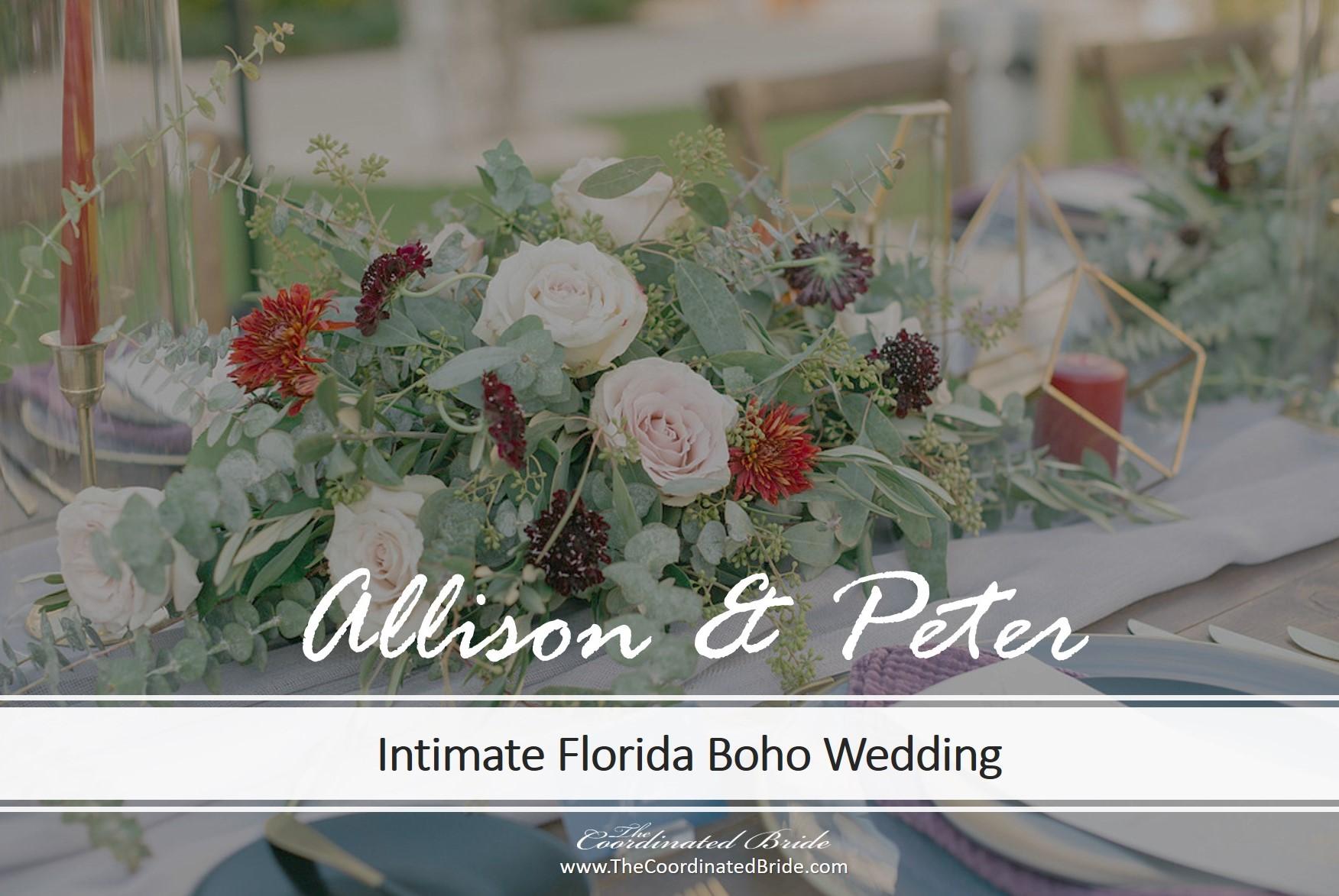 Intimate Boho Wedding at Belleview Inn, Allison & Peter