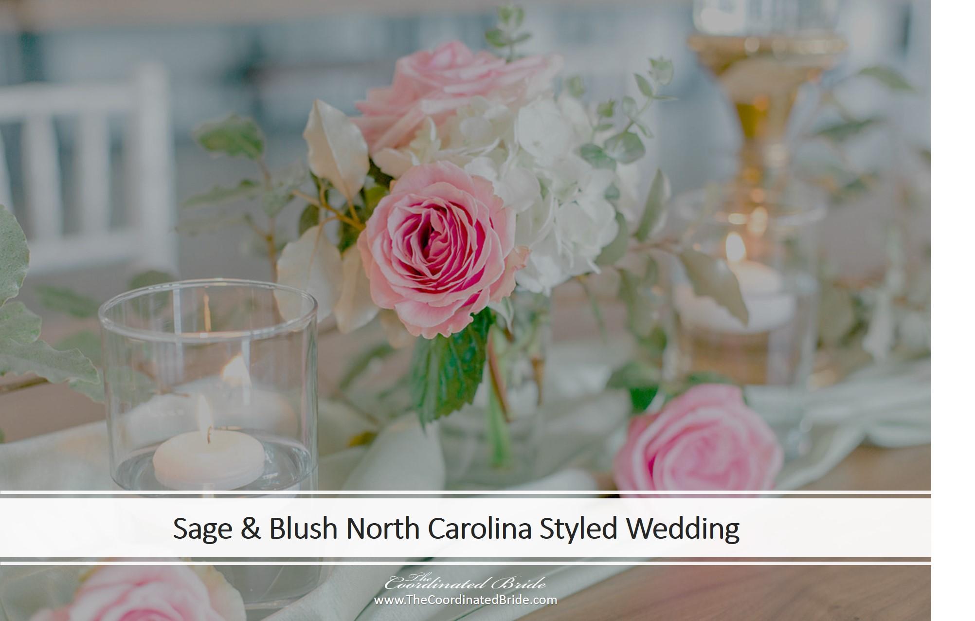 Sage & Blush North Carolina Styled Wedding