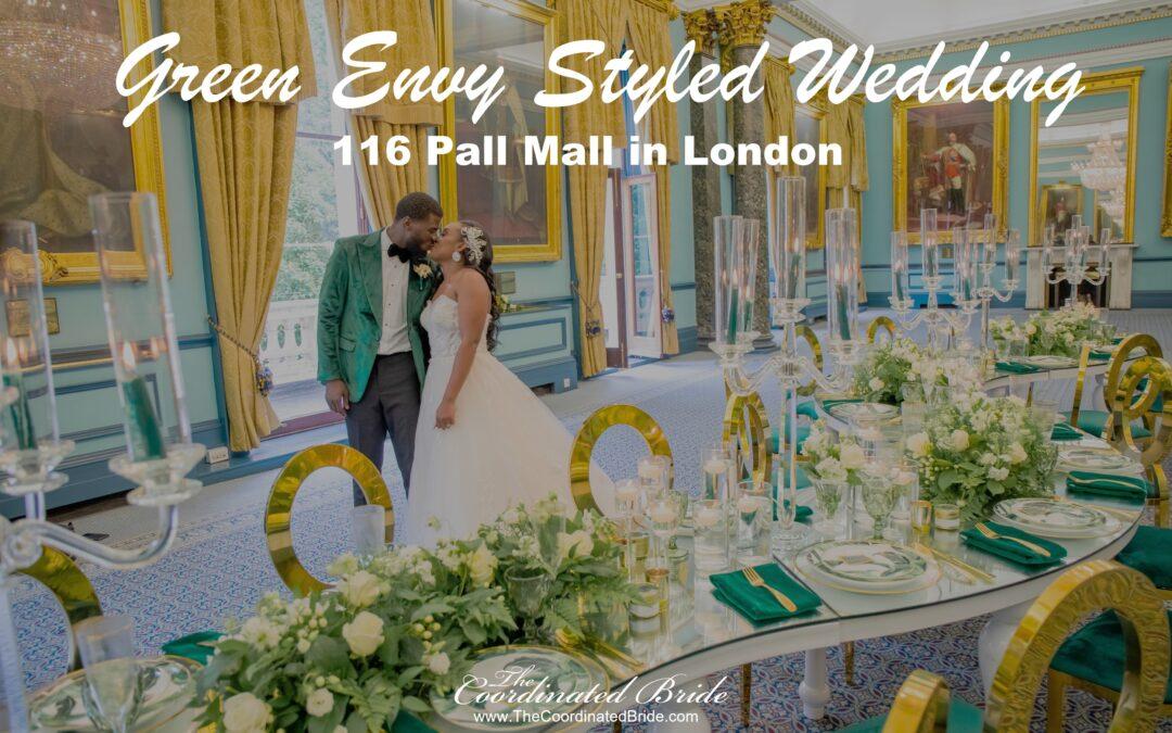 Green Envy London Wedding at 116 Pall Mall